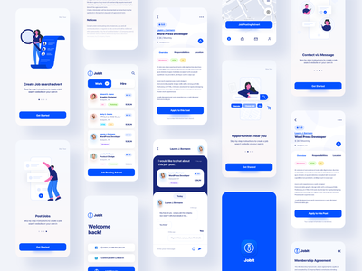 Jobit App ui ux illustration design startup illustration resume recruiting open position job seeker job portal job listing job directory job board glassdoor freelancer employment companies careerbuilder career candidate
