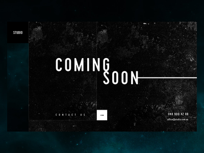 Coming Soon Page #01 studio dark minimal page comingsoon ui