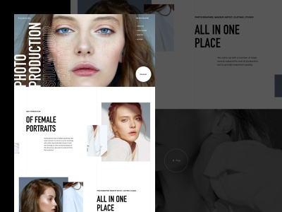 Concept. Photographer landing web concept photo uiux ui fashion production photographers photographer