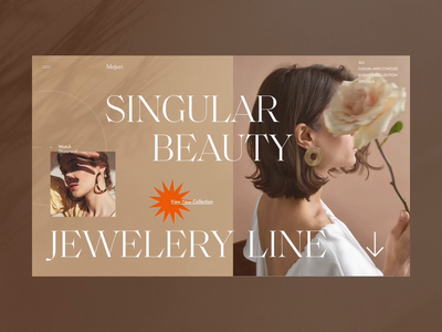 Jewelry Store button fashion mainpage ecommerce motion animation ribsone ux grid orange typography jewelry shop store jewelry jewelry store homepage design web concept ui