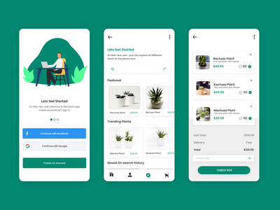 Plant Shop App online ecommerce plant app plants shop app ux plants selling ecommerce app plant ecommerce design plants buying app garden store ui green ios app design uidesign my cart ecomerce my cart ecommerce design ecommerce shop ecommerce plant store marketplace plants