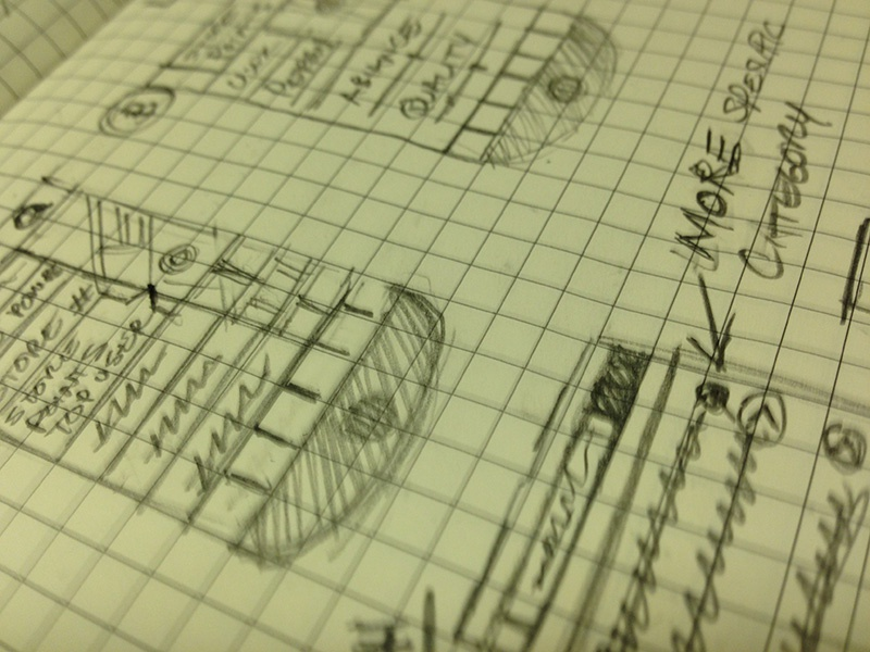 Sketches for new mobile finance app finance sketch idea mobile