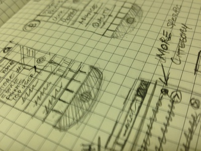 Sketches for new mobile finance app