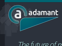 Adamant Logo and Homepage