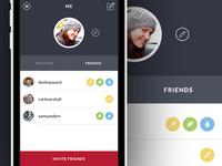 iPhone App - Friend Listing