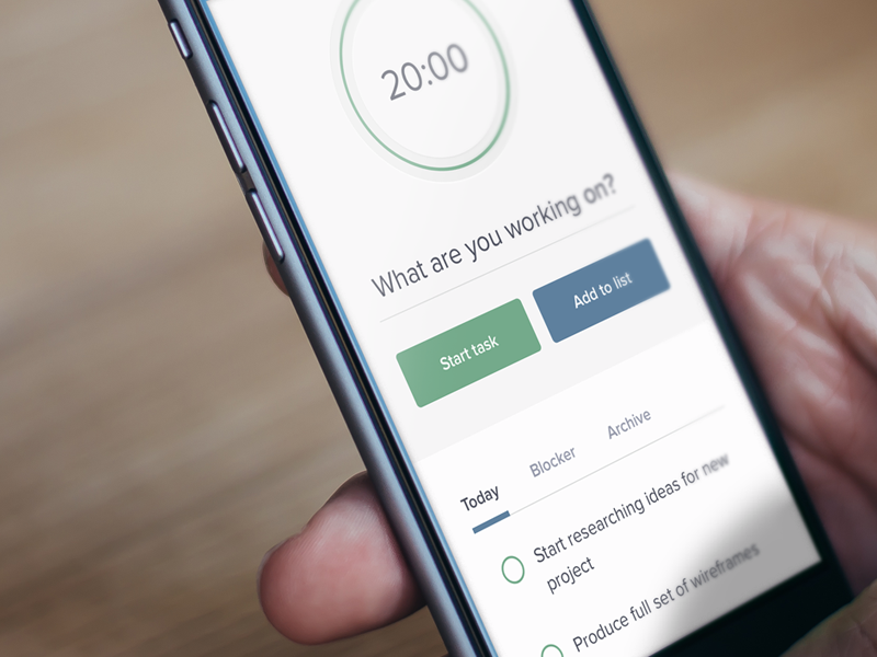 Productivity App - Mobile responsive mobile timer todo productivity pomodoro input tabs countdown progress web app web