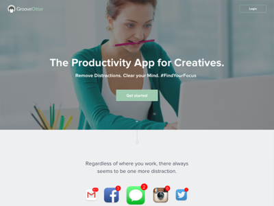 Productivity App - Landing Page