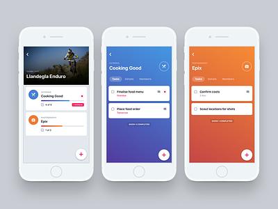 Event Organiser orange ui task mobile ios interface event design blue app