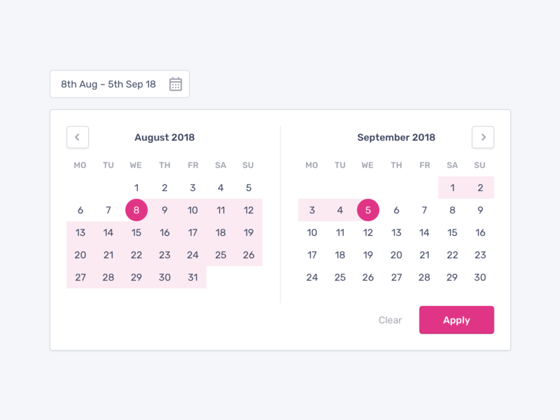 Date picker calendar date range date picker date form field form interface ux user interface web button ui