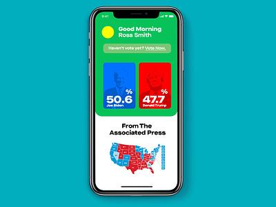 U.S Election Mobile UI Design phosothop mobile app mobile ui design ui illustrator illustration design branding ux