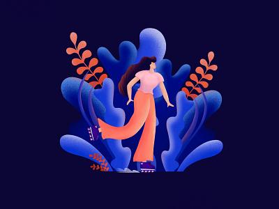 Roller skating💙 skating roller procreate illustration art illustration art