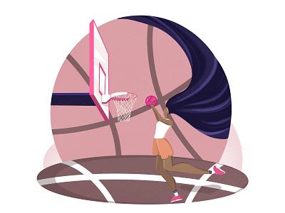 Basketball 🏀 game basketball girl design procreate illustration art illustration art