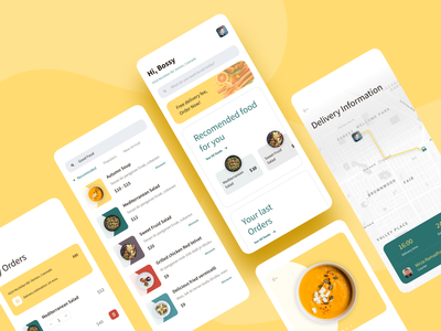 Fast Food Delivery ui ux cooking mobile app dribbble best shot app concept restaurant ios application food delivery clean delivery food app food