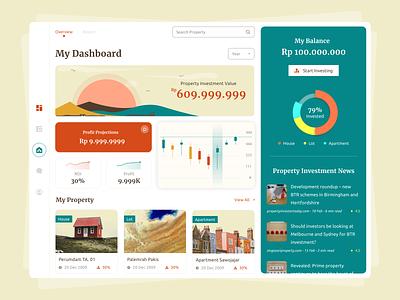 Property Investment App for Ipad vintage pie chart budget investment property apartment application ipad ipad app ios app concept