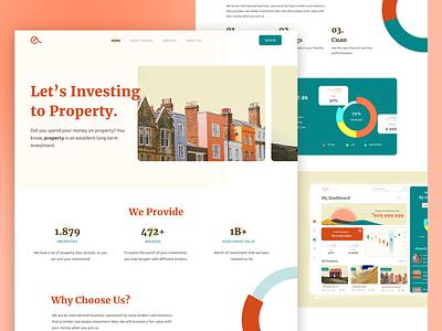 Property Investment Website prototype product design house apartment websites web ui freebies ui flat website home investment property