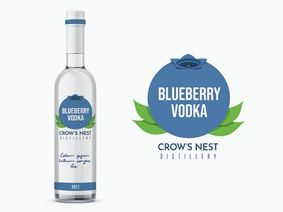 Blueberry Vodka Packaging branding vector design package design