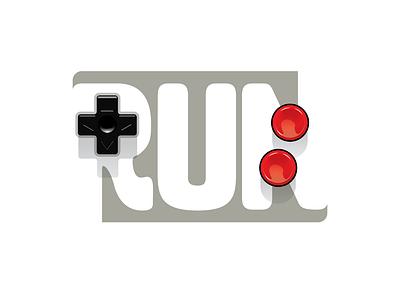 Run logo design illustration vector