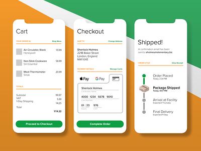 Mobile Checkout UI ui mobile app design daily ui challenge