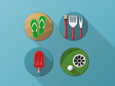 Summer Activity Icons icon set vector illustration weekly warm-up