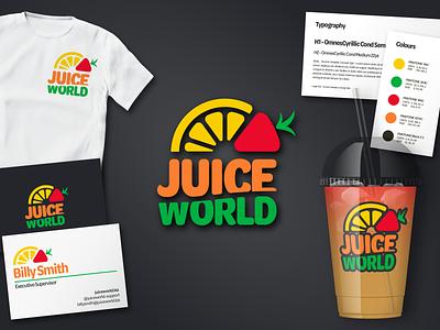Lemonade Vendor Brand Identity vector logo branding