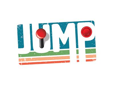 Jump Reto Arcade Logo vector branding logo