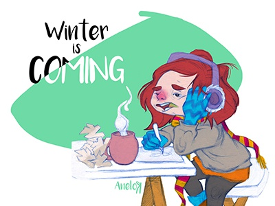 Winter is coming game of thrones home sweet home illustration gloves tea ill freezing winter is coming