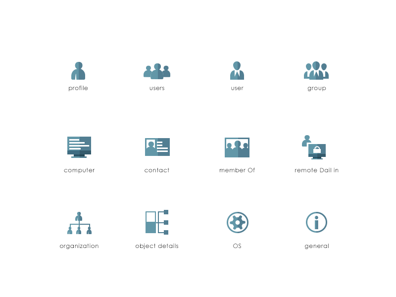 active directory assist icon set by ishtiaq hussain