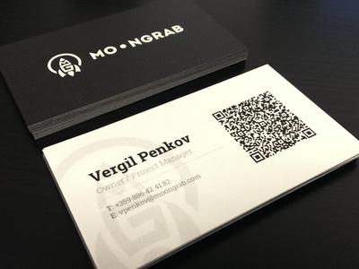 Moongrab business card design moongrab business card design print