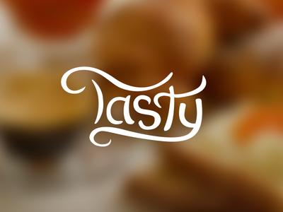 Tasty logo typography logotype wordmark tasty