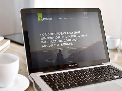 intracol website intracol website web site design engise designer