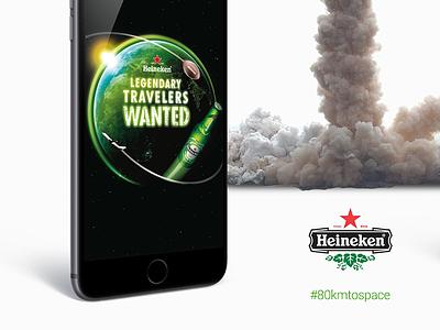 Eighty kilometres to space application redesign app space to 80 kilometres 80km heineken