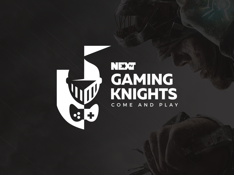 NEXT TV Gaming Knights logo design logotype logomark logo event nights knights game gaming tv next nexttv