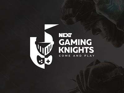 NEXT TV Gaming Knights logo design logotype logomark logo event nights knights game gaming tv next nexttv