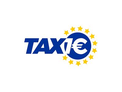 Taxi 1€ logo logo euro one taxi