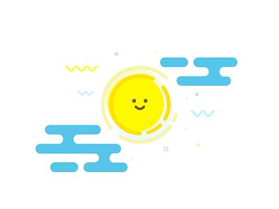 Sunshiny vector illustration shiny sunshiny sun