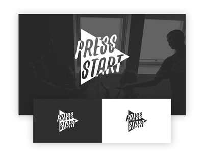 Press Start play logotype pr agency logo start press