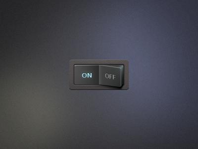 I/O Flip Switch on off io flip switch ui button