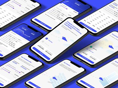 Credit banking app ux illustration design ui app application mobile banking credit