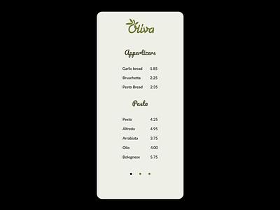 Menu simple restaurant 030 pricing food menu menu mobile uidesign ui figma dailyui