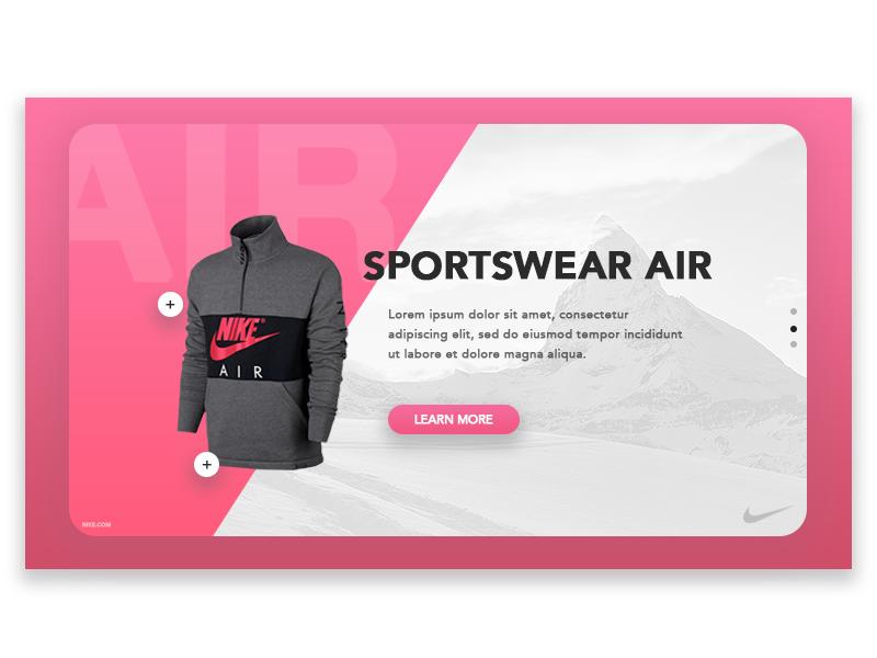 e-Commerce Header Concept 🛍 slider concept ux ui cart shop nike ecommerce header