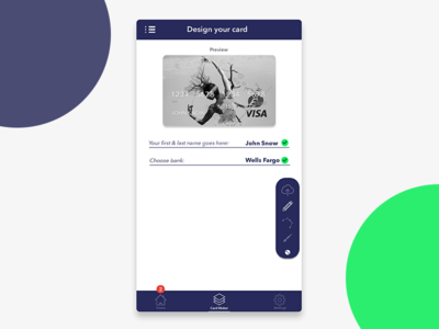 Design your bank card