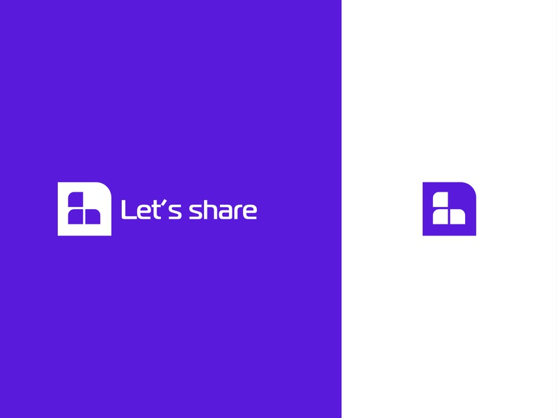 Let's Share share logo share brand agency brand logotype flat icon typography ui ux branding web illustration logo design