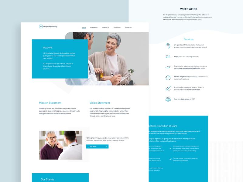 H2 Hospitalist - Web Design