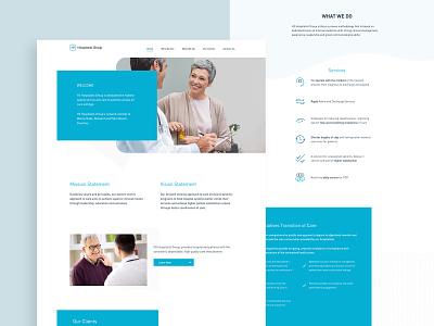 H2 Hospitalist - Web Design illustration ux product design web designer website builder website design waves adobe xd ui health landing page web design
