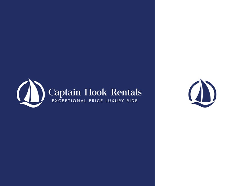 Captain Hook Rentals Branding logotype icon design boats illustration vector logo branding