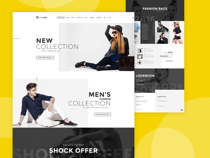 The Gem shot psd uidesign ui portugal layout e-commerce fashion