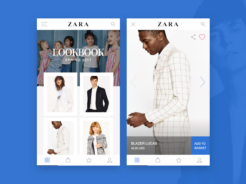 Lookbook Zara App clothes store details spring lookbook fashion minimalistic app concept zara