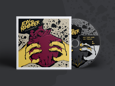 Digipack - A Day to Remember packaging heart ilustration dvd disco digipack cds band remember to day a