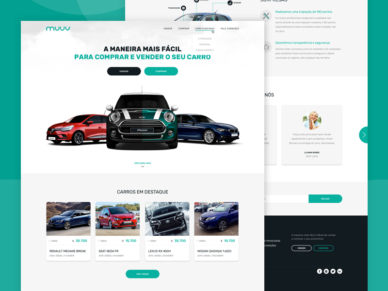 MUUV portugal design ui renders cars sales car website muuv