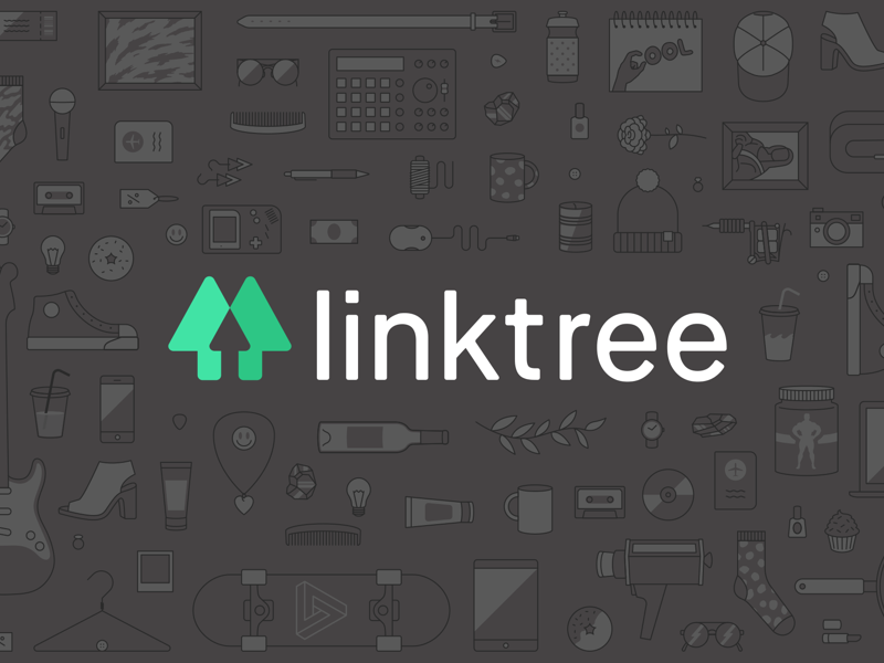 linktree logo lettering identity graphic design branding
